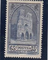 France - 1938 - N° YT 399** - Cathédrale De Reims - Nuovi