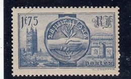 France - 1938 - N° YT 400** - Visite Des Souverains Britanniques - Nuovi