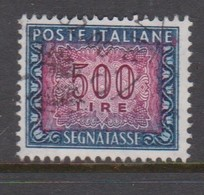 Italy PD 120  1955-81 Republic  Postage Due,watermark Stars,lire 500 Blue And Carmine,used - 1878-00 Humbert I.