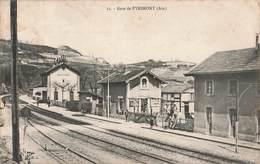 01 Gare De Pyrimont Ain Cachet Convoyeur Geneve 1909 - France