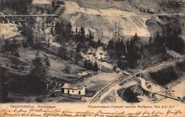 SALZBURG AUSTRIA ~ TAUERNBAHN NORDRAMPE ~ THOMERSBACH-VIADUKT Sammt ROLLBAHN~1905 PHOTO POSTCARD 42523 - Altri