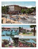 """31 - TOULOUSE . """" LE PONT NEUF SUR LA GARONNE """" & """" LE CARREFOUR ROOSEVELT """" . 2 CPM - Réf. N°23452 - - Toulouse"""