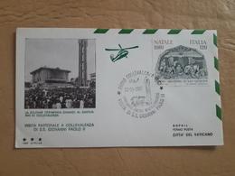 Italie Enveloppe Visite De Jean-Paul II, Avec Cachet De La Poste En Hélicoptère - Helicópteros