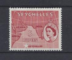 "SEYCHELLES......QUEEN ELIZABETH II.(1952-NOW).."" 1954 ""......5Rs.......SG187........MH.. - Seychelles (...-1976)"