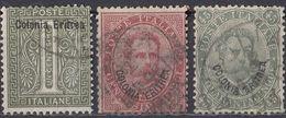 ERITREA - 1893 - Lotto Di 3 Valori Usati: Yvert 1, 4 E 8. - Eritrea