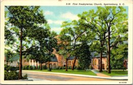 South Carolina Spartanburg First Presbyterian Church 1941 Curteich - Spartanburg