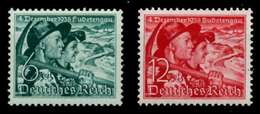 3. REICH 1938 Nr 684y-685 Postfrisch X70019E - Deutschland