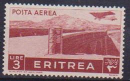 COLONIE ITALIANE ERITREA POSTA AEREA 1936 SOGGETTI AFRICANI SASS. 24 MLH VF - Eritrea