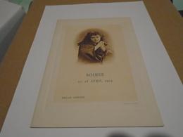 Programme De La Soirée Opéra Du 18 Avril 1904 Salle Hoche Portrait Me MARIE ROZE - Programmes