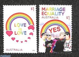 Australia 2019 Marriage Equality 2v, (Mint NH) - 2010-... Elizabeth II