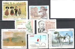 Good Adhesive Stamps Mnh ** Incl Conseil Constitutionnel Type Two Alone 25 Euros Cat - Adhésifs (autocollants)