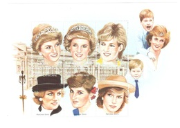 Central African Republic Lady Diana Sheet Mnh ** - Familias Reales