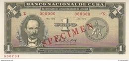 CARIBBEAN CARIBE 1 Peso 1975 Espécimen - Uncirculated - SCARCE AUTHENTIC AND RARE - Cuba