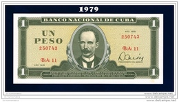 "1979 - 1 PESO "" BANCO NACIONAL UNCIRCULATED  ""  VERY SCARCE - Cuba"