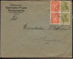 Allemagne Poste Obl Yv:125+ Mi:147+ Germania Deutsche Reich (TB Cachet à Date) Lettre Kirchenlamitz 3JAN22 - Brieven En Documenten