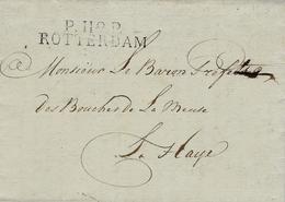 1813- TERR. CONQUIS - Lettre De P.119.P./ ROTTERDAM ( Bouches De La Meuse) 47 Mm Noir - Netherlands