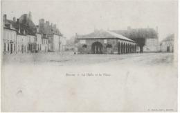 BRAINE - LA HALLE ET LA PLACE - CARTE PRECURSEUR - DEBUT 1900 - France