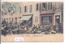 NANCY- LA MUSIQUE DU 69 EME- COLORISEE- COMMERCES - Nancy