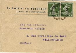 1934- Bande De Journal Affr. Paire Semeuse 2 C N°278  De Pont à Mousson ( M & M ) - 1921-1960: Periodo Moderno