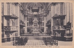 CARTOLINA - RHO (MI) SANTUARIO BASILICA DEI PADRI OBLATI MISSIONARI DI RHO - L' INTERNO - Rho
