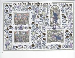 BF 135 Salon Du Timbre 2014 Les Grandes Heures De L'Histoire De France Oblitéré - Usados