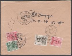 MAROC:  LSC De France (1966) Taxée à L'arrivée Par Taxe N°51+58(x2) Et Poste N°437 ! - Marokko (1956-...)