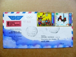 Cover Guinea Ecuatorial Expres Registered Olympic Games Augsburgo 72 Sport Basketball Kayaking Kayak - Guinea Equatoriale