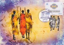 Carte  Maximum  1er   Jour    FRANCE    Journée  Internationale  Des  Langues  Autochtones   UNESCO   2019 - 2010-...