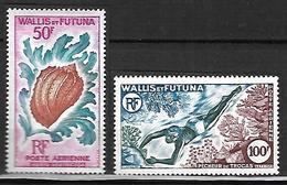 Wallis Et Futuna 1962 - 63  Poste Aérienne     Cat Yt N° 18 Et 19    N**  MNH   Série Complète - Luftpost