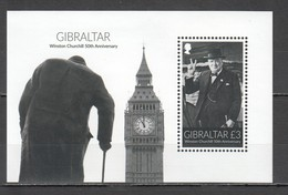 SS592 GIBRALTAR WINSTON CHURCHILL 50TH ANNIVERSARY BL119 1BL MNH - Sir Winston Churchill