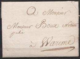 L. Datée 25 Fructidor An 13 (1804) De LIEGE Pour Notaire à WAREMME - 1794-1814 (French Period)