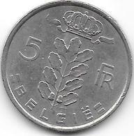 BELGIE 1975 - 5 Francs - 1951-1993: Baudouin I