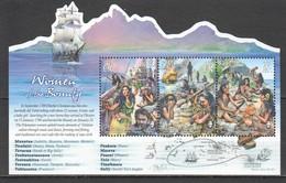 A800 2017 PITCAIRN ISLANDS TRANSPORT SHIPS WOMEN OF BOUNTY HISTORY !!! MICHEL 13,5 EURO !!! 1BL MNH - Boten