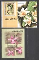 C673 1997,1999 CAMBODGE FLORA FLOWERS ORCHIDS 2BL MNH - Orquideas