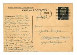 GG 7.10.39, Feldpost Auf Poln. Ganzsache Von Lublin - Occupation 1938-45