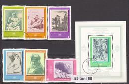 1975 Art WORLD PAINTINGS 6v.+ S/S- Used/oblit.(O) BULGARIA / Bulgarie - Arte
