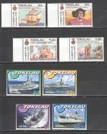 C726 1992,2002 TOKELAU TRANSPORTATION SHIPS & BOATS COLUMBUS !!! 2SET MNH - Barche