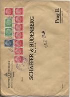 Sudetenland Firmenbrief Befreiungsstempel Aussig 18.10.39 Firma Schäffer & Budenberg, Hohe Frankatur - Occupation 1938-45