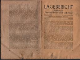 SUPPLEMENT A UN DOCUMENTS DESTINE A LA SS ET A LA POLICE ALLEMANDE DATE DU 24 MAI 1944 / 24 PAGES NON DECOUPEES - Documents Historiques