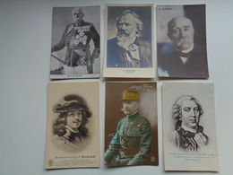 Beau Lot De 60 Cartes Postales De Personnes Célèbres Peintre  Poète Famille Royale écrivain Philosophe - 60 Scans - Postkaarten