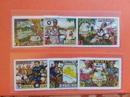 LIBERIA Anni '50 - Nn. 287/90 + A59/60 Nuovi MNH + Spese Postali - Liberia