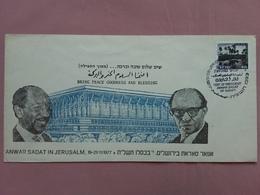 ISRAELE - Visita Presidente Sadat In Gerusalemme + Spese Postali - FDC