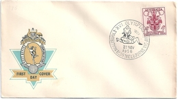 B3963 Australia Olympic Melbourne Sport Coat-of-Arms FDC - Verano 1956: Melbourne