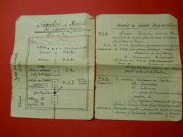 Ww1 Service De Santé En Campagne Ligne De Feu Notes Manuscrites D'un Infirmier Ou Docteur Feuilles De Cahier - Documents