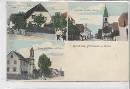 68 BISCHWEIER . Grüss , Bonjour En 3 Clichés Dont L'épicerie-boulngerie Vogel , édit : A Kanitzer , écrite , état Extra - Other Municipalities
