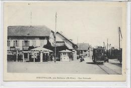 68 BURTZWILLER . La Rue Nationale , Magasin , Tramway , édit : A Kanitzer , Années 10 , état Extra - Autres Communes
