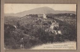 CPA 06 - BELLET - Environs De NICE - Le Château De Bellet Et Sa Chapelle - TB PLAN Edifice + Maisons Sur La Colline - Sonstige Gemeinden