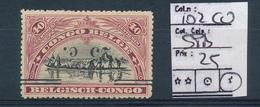 BELGIAN CONGO COB 102 CU SIGNED SPB LH - Congo Belga