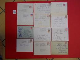1960-1970 Lot De 220 Enveloppes Avec Flammes Et Recommandés Majorité 66 P-o Marty Expert Perpignan - Autres