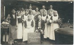 GOSSELIES : Soupe Populaire 1917 - WW1 - TRES RARE CARTE PHOTO - Charleroi
